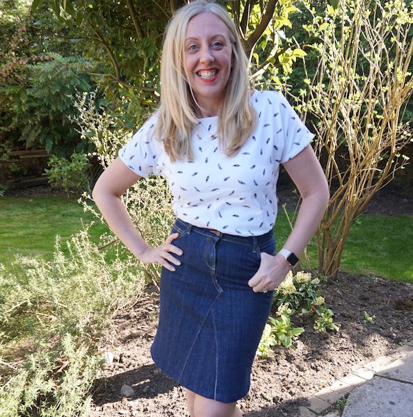 Jeans to Skirt Refashion 2 - Makes Gallery