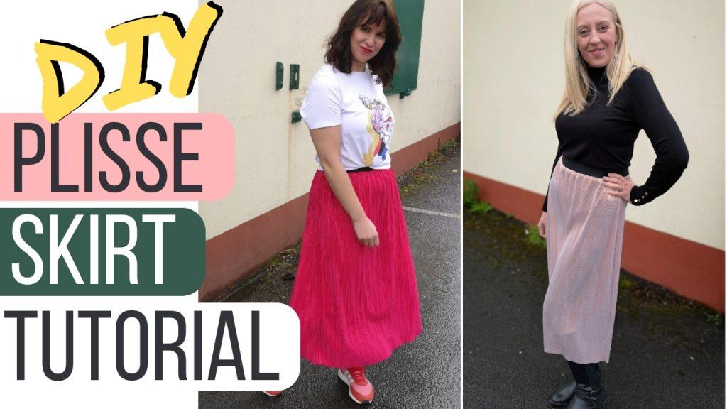beginner sewing classes - DIY pleated skirt tutorial