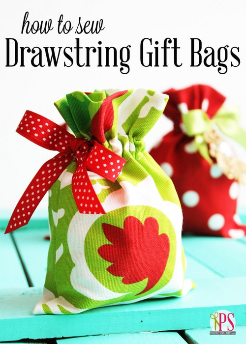 Positively Splendid Drawstring Gift Bags