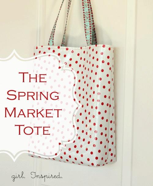 The SpringMmarket Tote from Girl. Inspired