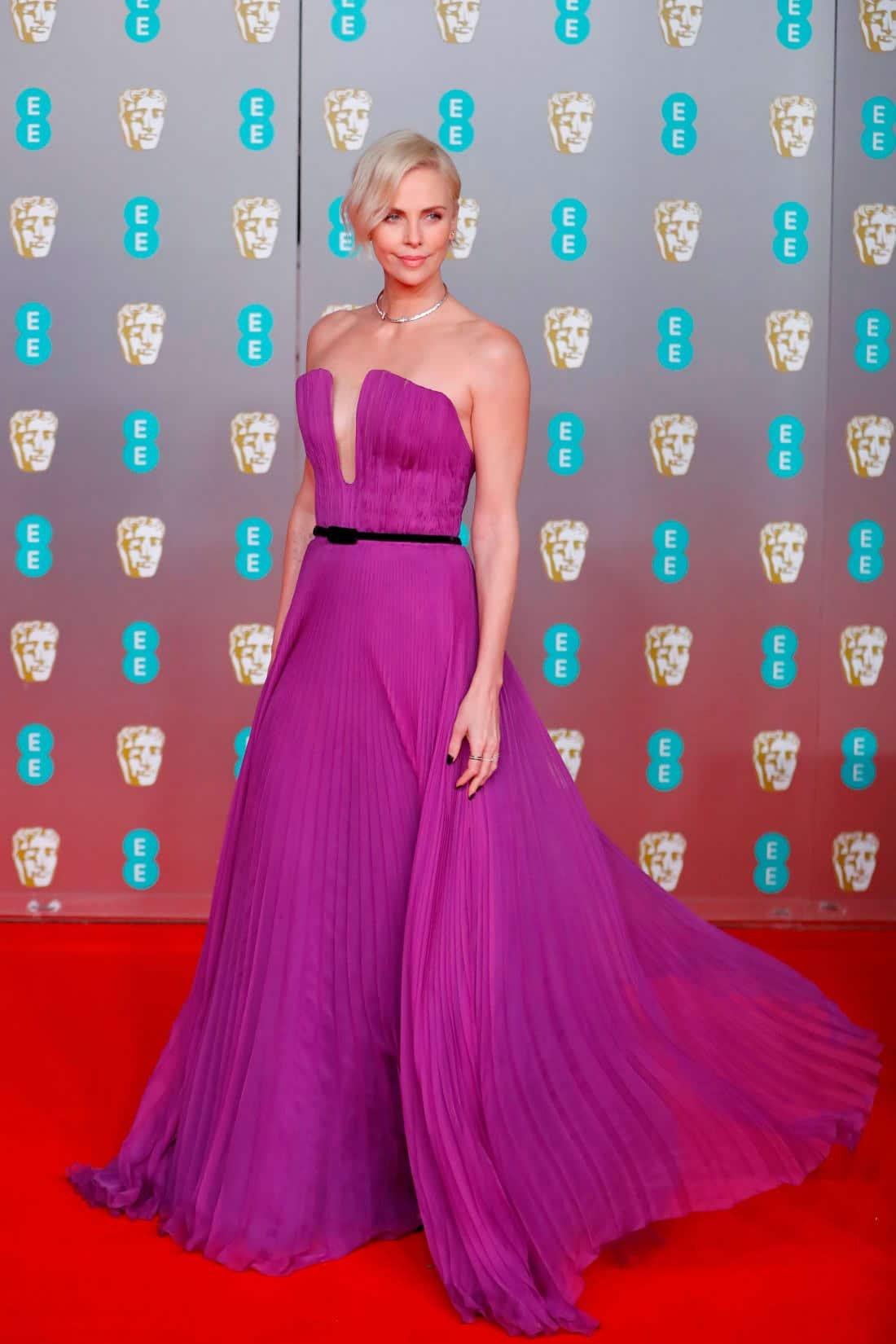 Charlize Theron at The BAFTAs 2020