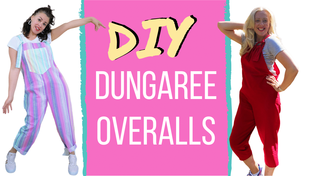 beginner sewing project - diy dungaree pattern free